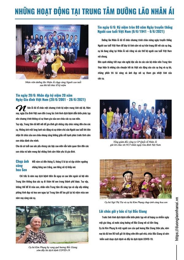 Trung tâm Dưỡng lão Nhân Ái ra mắt bản tin NHÂN ÁI NEWS