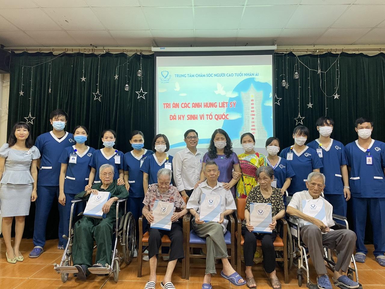 Dưỡng lão Nhân Ái tổ chức kỷ niệm ngày Thương binh liệt sĩ